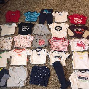 26 piece baby boy set. Size 6-9 months